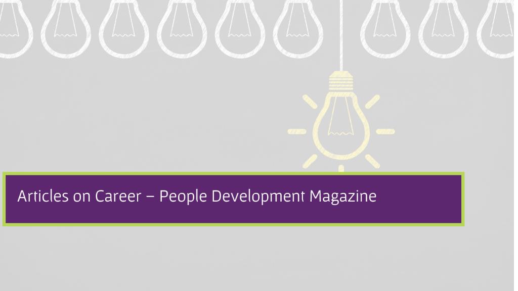 Articles on Career - People Development Magazine