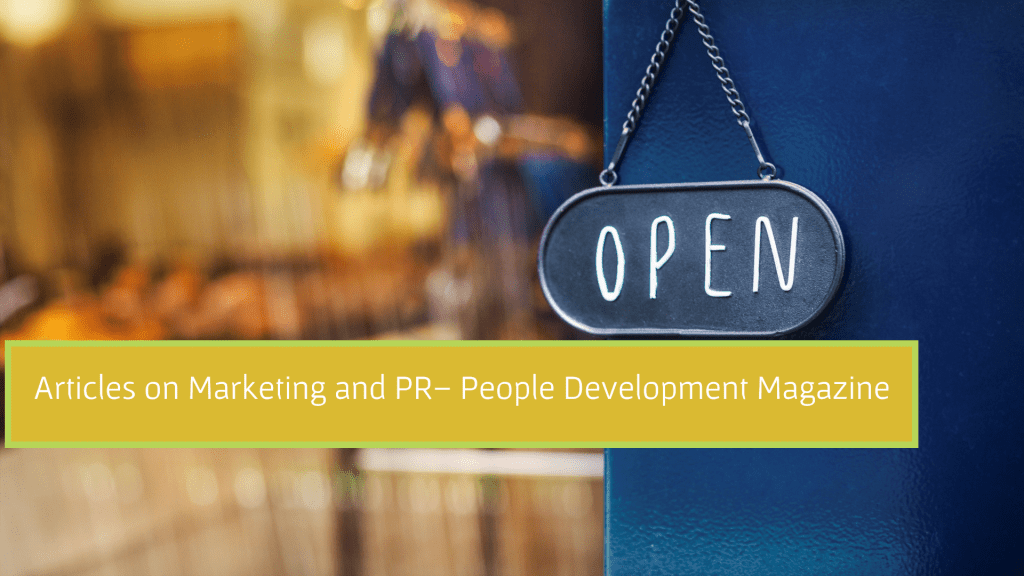 Articles on Marketing and PR - People Development Magazine