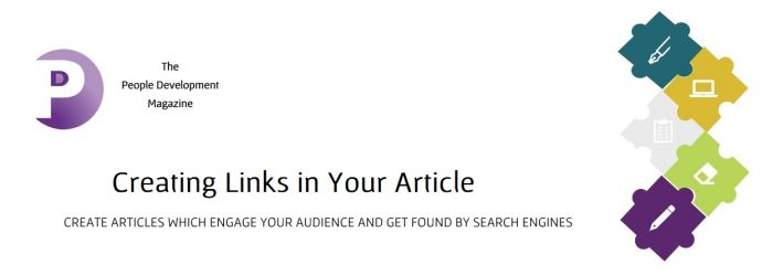 Creating Links In Your Article - People Development Magazine